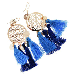 2 Dreamcatcher Tassel Earrings - French Hook Style - 1 Pair - Z1078