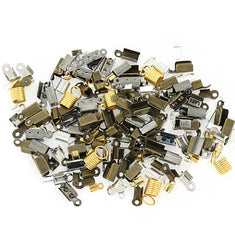 Assorted Coil and Crimp Ends - 3-14mm x 5-43mm - 50 Pieces - FD382