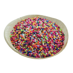 Seed Glass Beads 13/0 2mm - Vibrant Rainbow - 50g 7900 Beads - BD298