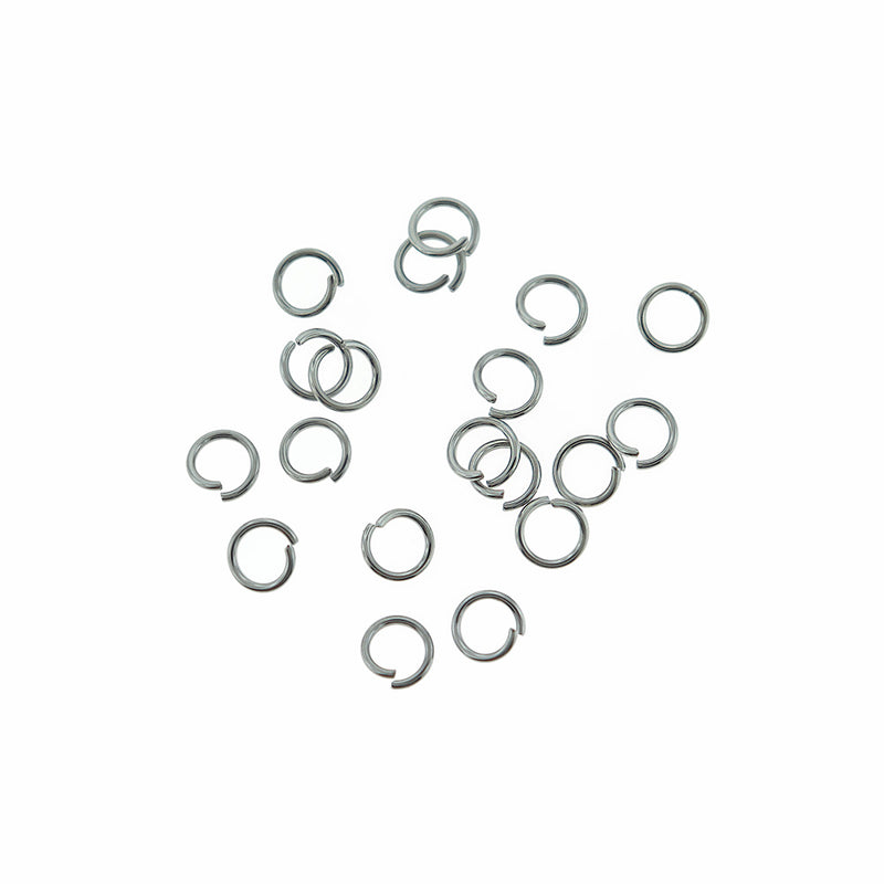 Stainless Steel Jump Rings 7mm x 1mm - Open 18 Gauge - 85 Rings  - SS015