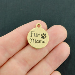 Animal Gold Stainless Steel Charm - Fur Mama - Exclusive Line - Quantity Options - BFS1849GOLD