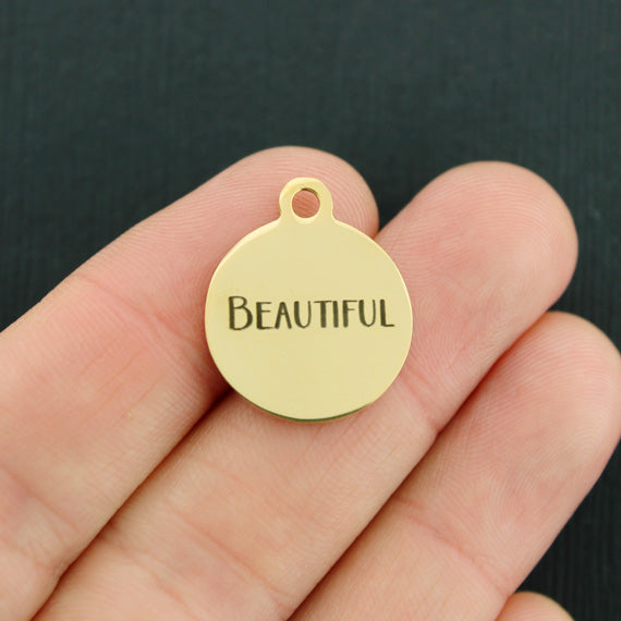 Beautiful Gold Stainless Steel Charm - Exclusive Line - Quantity Options - BFS2270GOLD