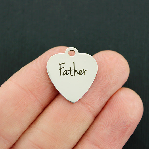 Dad Stainless Steel Charm - Father - Exclusive Line - Quantity Options - BFS2813
