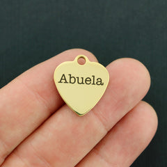 Grandmother Gold Stainless Steel Charm - Abuela - Exclusive Line - Quantity Options - BFS3560GOLD