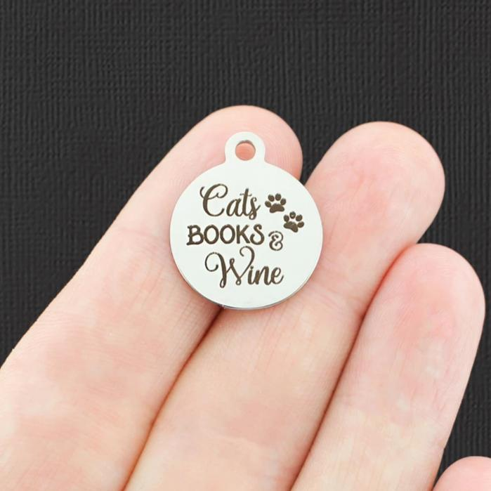Toes in the sand a book in my hand BFS1508 Beach Stainless Steel Charm