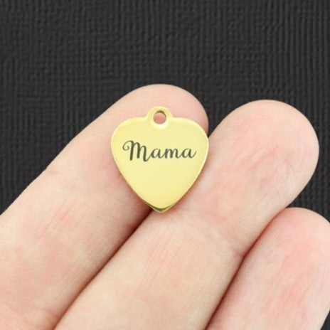 Mom Gold Stainless Steel Charm - Mama - Exclusive Line - Quantity Options - BFS5156GOLD