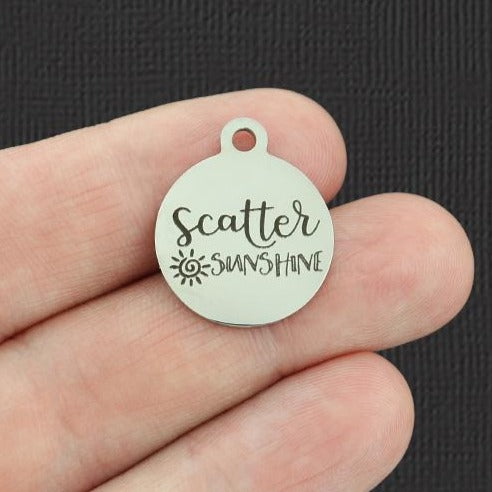 Positivity Stainless Steel Charm - Scatter Sunshine - Exclusive Line - Quantity Options - BFS5354