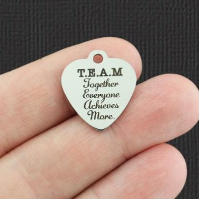 Teamwork Stainless Steel Charm - T.E.A.M Together Everyone Achieves More. - Exclusive Line - Quantity Options - BFS5361