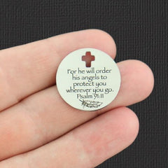 Makes things possible Faith Stainless Steel Charm not easy Cross BFS822