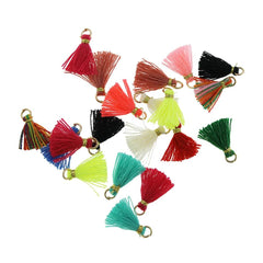 Polycotton Tassel - Assorted Rainbow Colors - 10 Pieces - Z1088