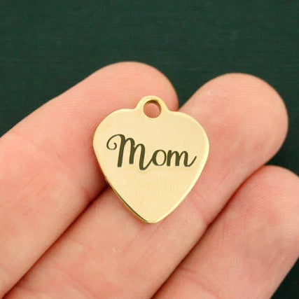Family Gold Stainless Steel Charm - Mom - Exclusive Line - Quantity Options - BFS1095GOLD
