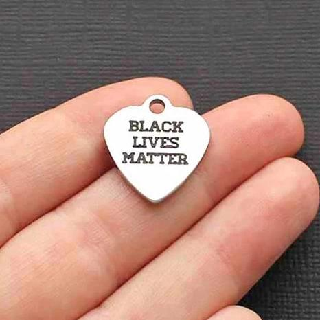 Activist Stainless Steel Charm - Black Lives Matter - Exclusive Line - Quantity Options - BFS1308