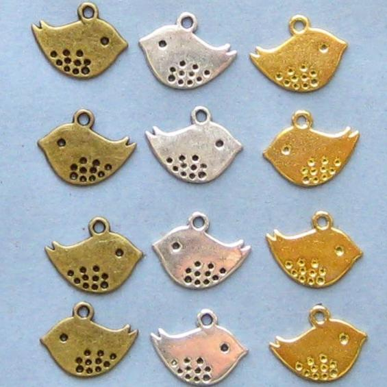 Bird Charm Collection in Three Finishes 9 Charms - COL099
