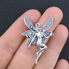 4 Fairy Antique Silver Tone Charms - SC210