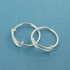 Silver Tone Adjustable Ring Bases - 15.9mm - 10 Pieces - FD394