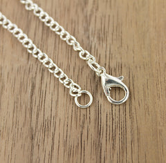 Silver Tone Curb Chain Necklaces 30