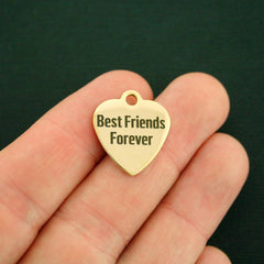 Friendship Stainless Steel Charm - Best Friends Forever - Exclusive Line - Quantity Options - BFS52GOLD