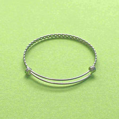 Stainless Steel Adjustable Bangles - 60mm - 5 Bangles - N302