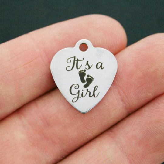BFS2356 that/'s why! Lady Stainless Steel Charms Because I/'m a lady