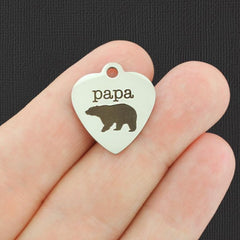 Father Stainless Steel Charm - Papa - Exclusive Line - Quantity Options - BFS3306