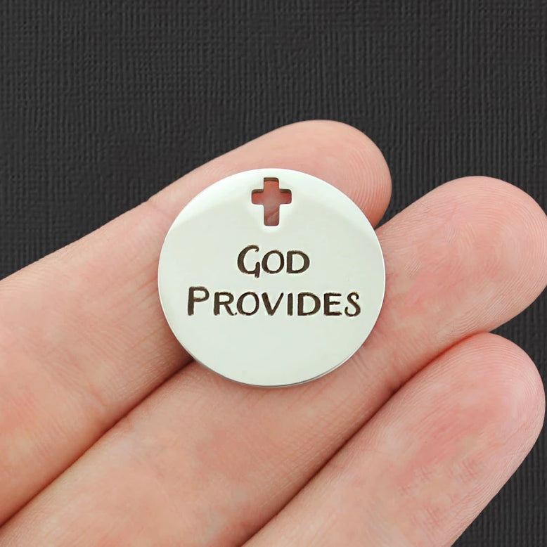 Religious Stainless Steel Charms BFS445 You are a gift from God