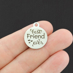 Friendship Stainless Steel Charm - Best Friend Ever - Exclusive Line - Quantity Options - BFS4835