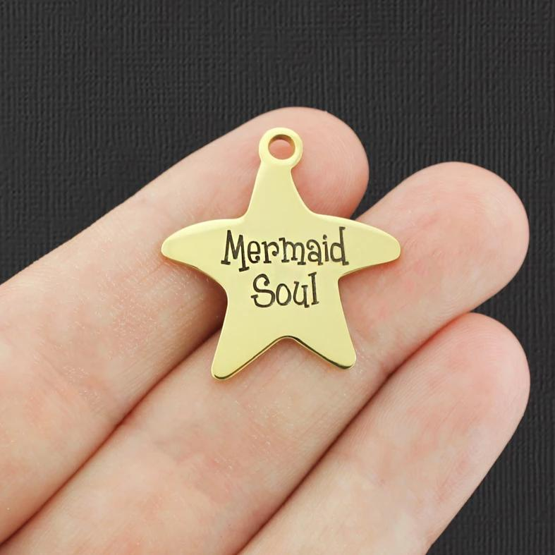 Beach Gold Stainless Steel Starfish Charm - Mermaid Soul - Exclusive Line - Quantity Options - BFS954GOLD