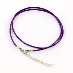 Violet Purple Wax Cord Necklaces 18.7