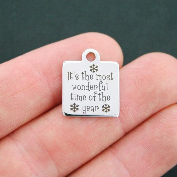 Naughty or Nice? Christmas Stainless Steel Charms Quantity Options BFS700