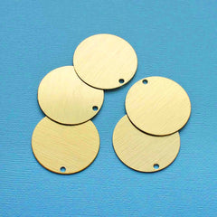 Circle Stamping Blanks - Gold Anodized Aluminum - 38mm - 5 Tags - MT347