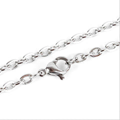 Stainless Steel Cable Chain Necklace 20