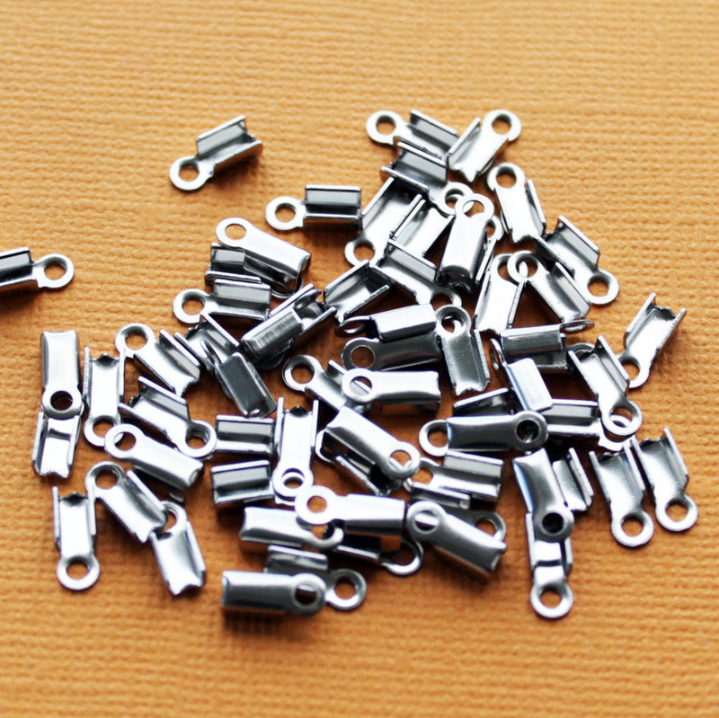 Stainless Steel Cord Ends - 9mm x 4mm - 100 Pieces - FD161