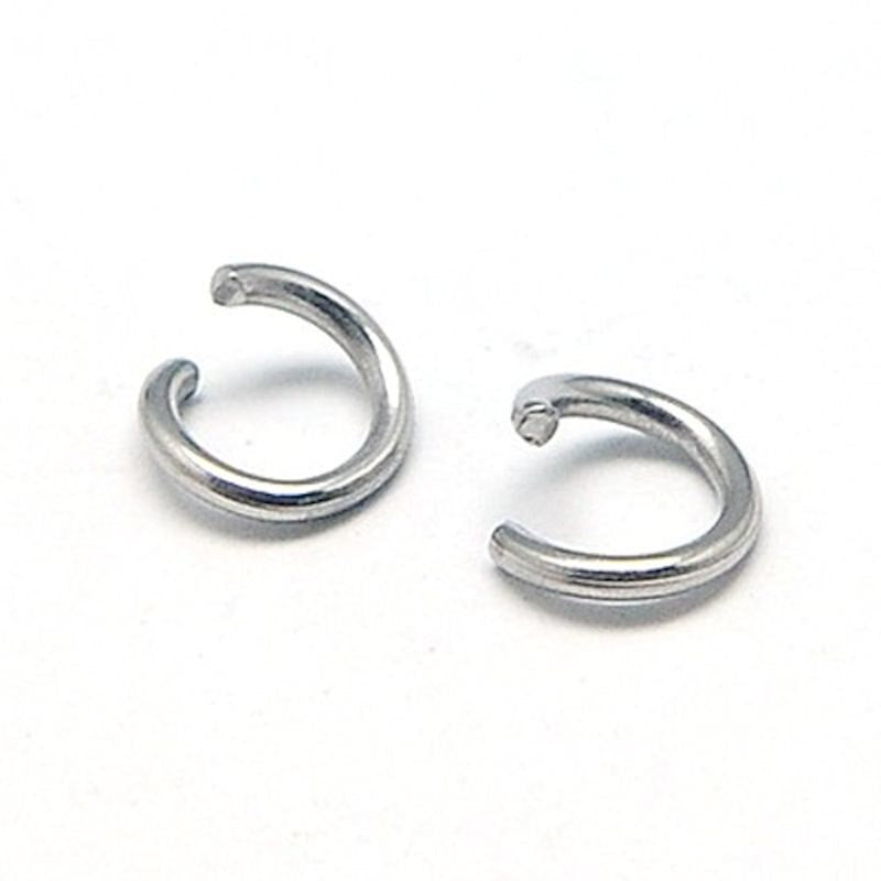Stainless Steel Jump Rings 6mm x 1mm - Open 18 Gauge - 75 Rings  SS016