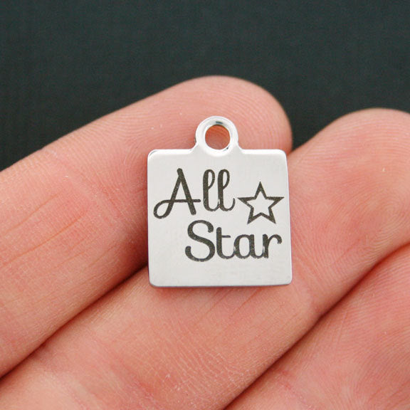 Quantity Options All Star Charms Polished Stainless Steel BFS020