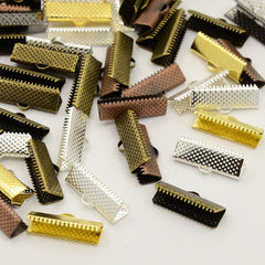 Assorted Ribbon Ends - 16mm x 8mm - 50 Pieces - FD151
