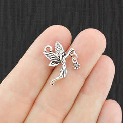 4 Fairy Antique Silver Tone Charms - SC6455