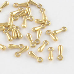 Gold Tone Chain Drops - 7mm x 2.5mm - 50 Pieces - FD313
