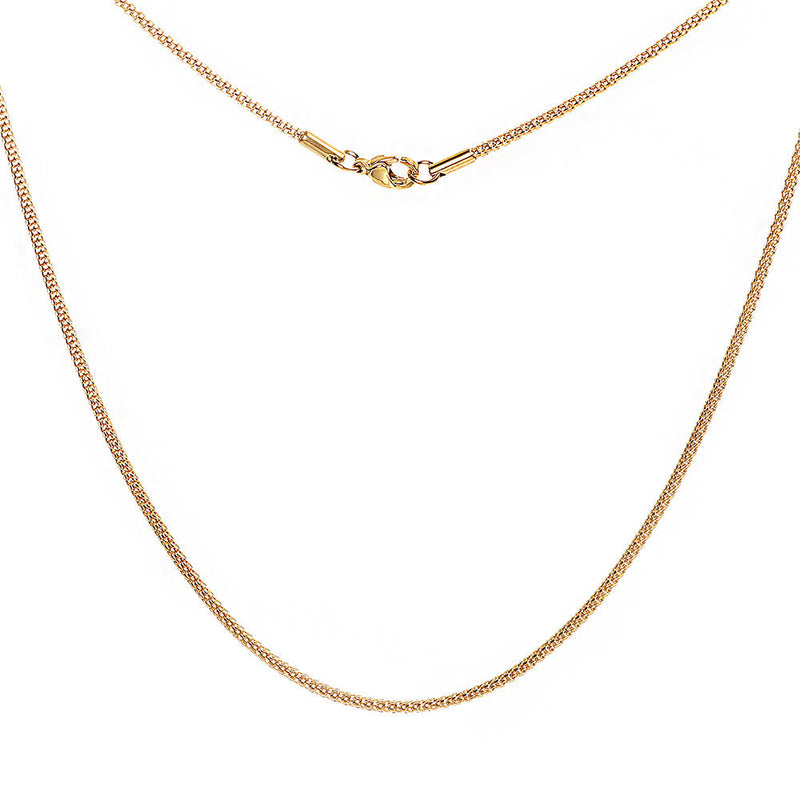 "Gold Tone Stainless Steel Snake Chain Necklace 18"" - 2mm - 1 Necklace - N385"
