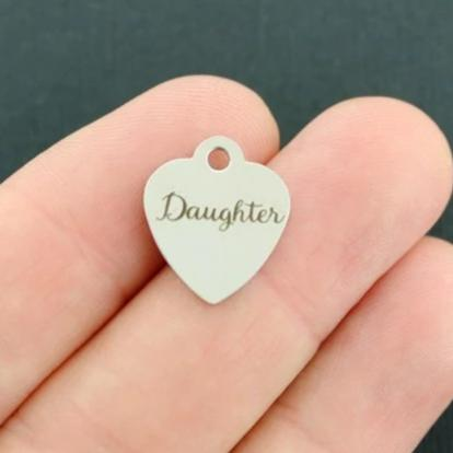 Smaller Size Daughter Stainless Steel Charms BFS3665 Quantity Options