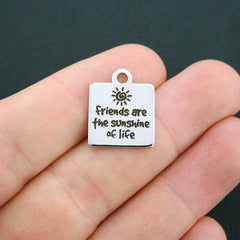 Friendship Stainless Steel Charm - Friends are the Sunshine of Life - Exclusive Line - Quantity Options - BFS595