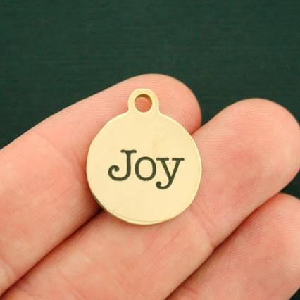 Joy Gold Stainless Steel Charm - Exclusive Line - Quantity Options - BFS2702GOLD
