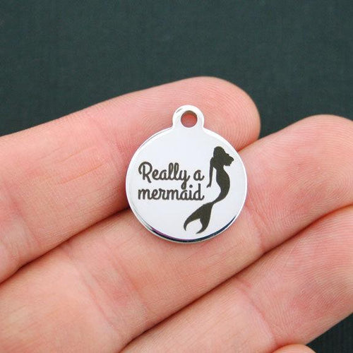 Quantity Options BFS2100 Mermaid Stainless Steel Charm Mermaids Are Real