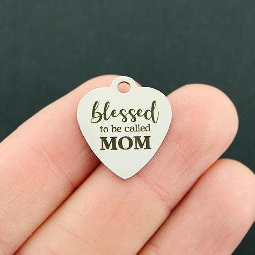 BFS4799 Blessed to be called Mom Mom Stainless Steel Charm