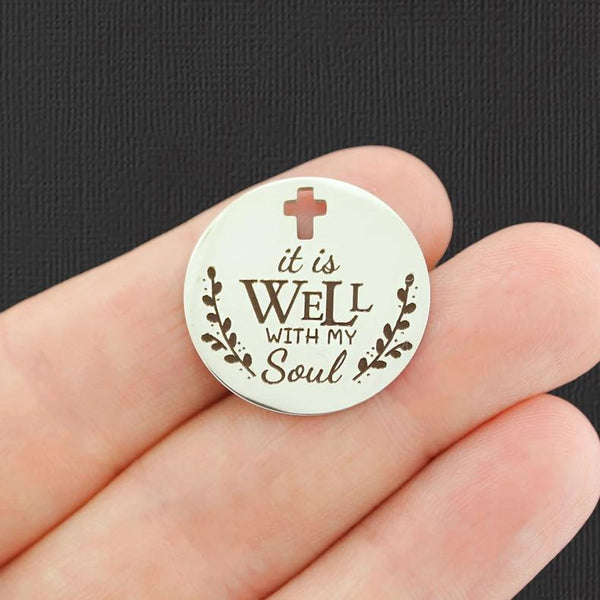 Quantity Options BFS117 Faith Family Friends Stainless Steel Charm