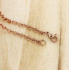 Rose Gold Stainless Steel Cable Chain 24