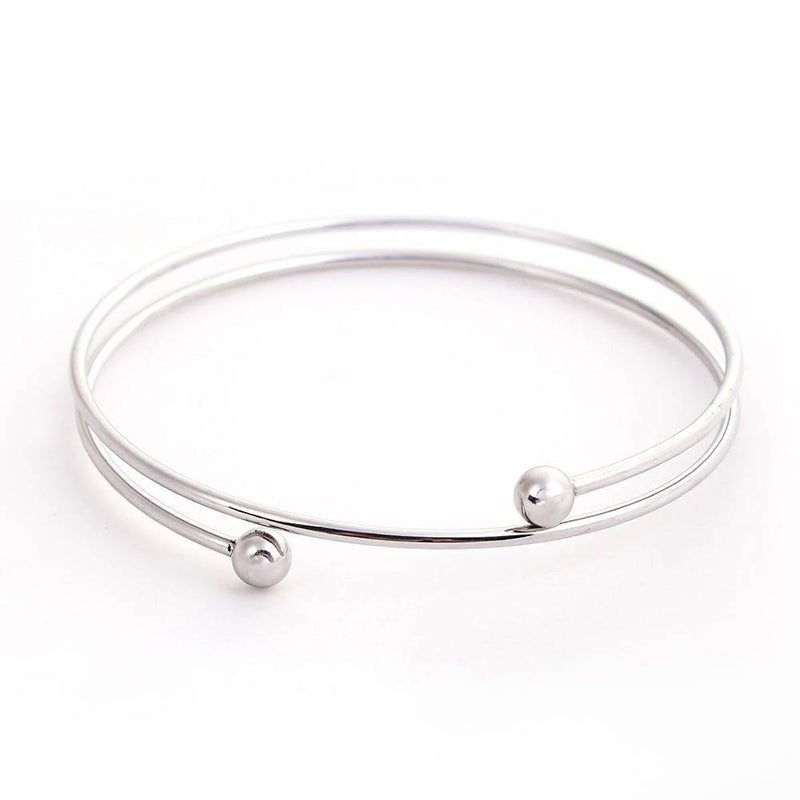 Stainless Steel Wrap Bangle - 73mm - 1 Bangle - N444