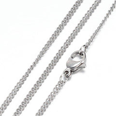 Stainless Steel Curb Chain Necklace 20