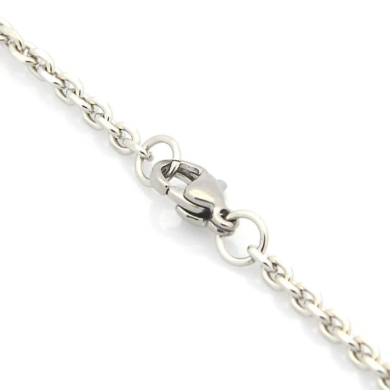 "Stainless Steel Cable Chain Necklace 30"" - 3mm - 1 Necklace - N107"