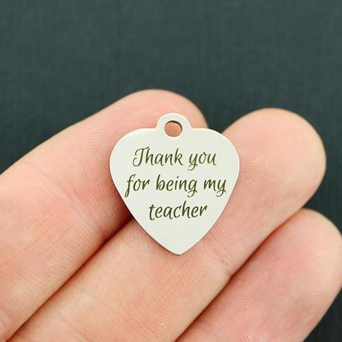 Stainless Steel Charms BFS2275 Beside every teacher great Paraprofessional