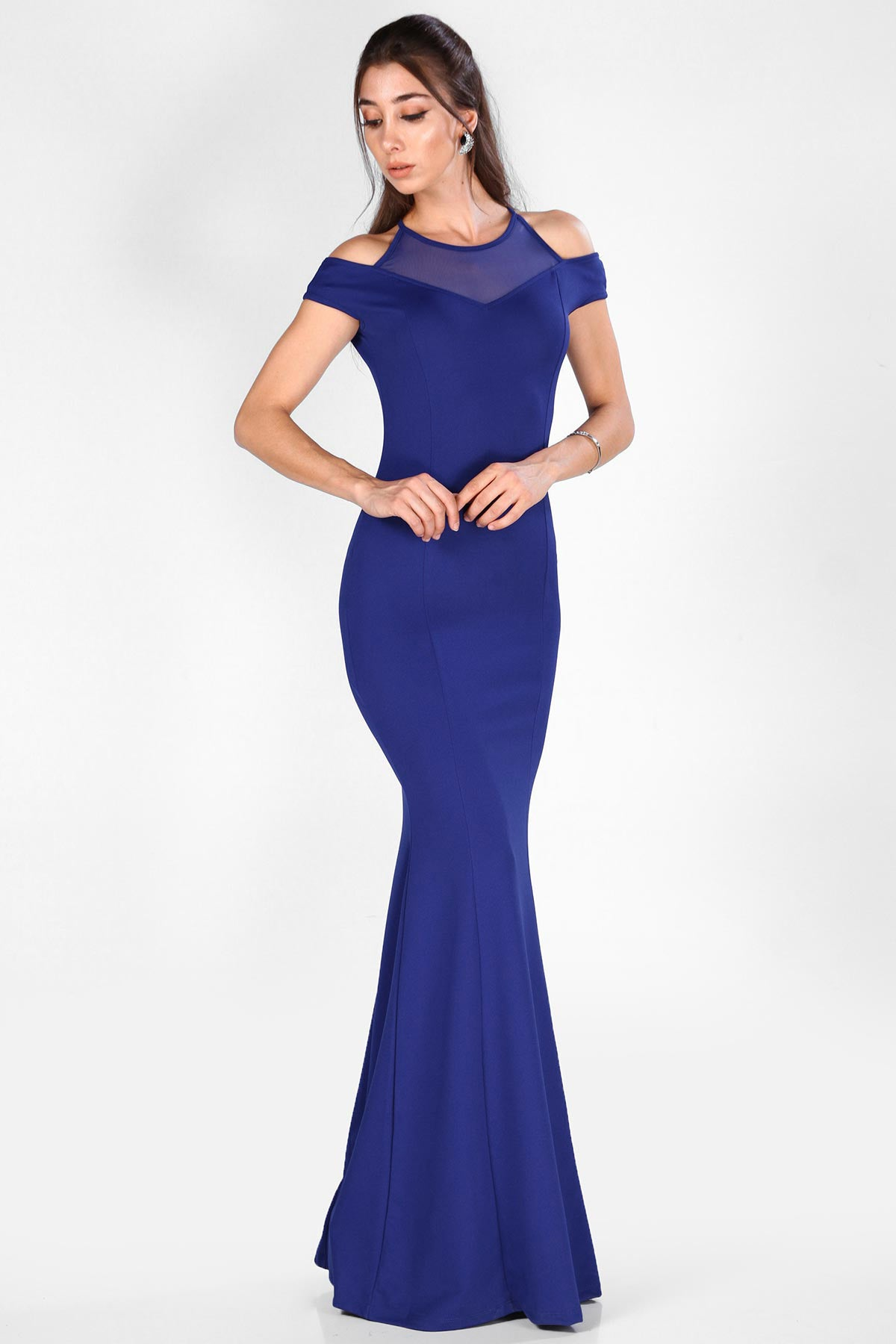 Women's Décolletage Top Saxe Evening Gown